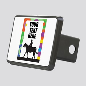 Horse Border Rectangular Hitch Cover